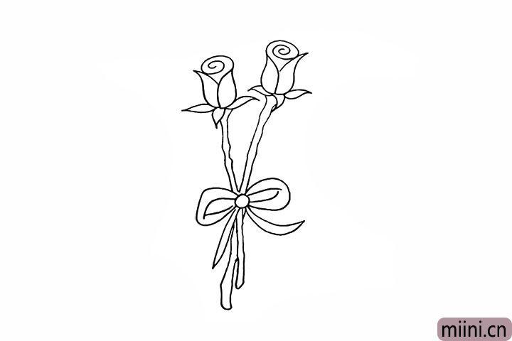 7.仔细观察两条花茎是交叉着的。