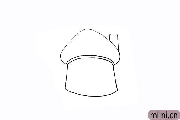 5.再画出一个烟囱.注意被遮挡的部分。