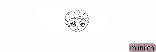 10.用不规则的曲线画出头顶的头发。