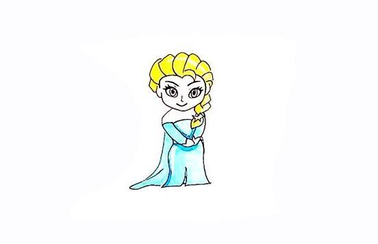如何把艾莎公主给画出来