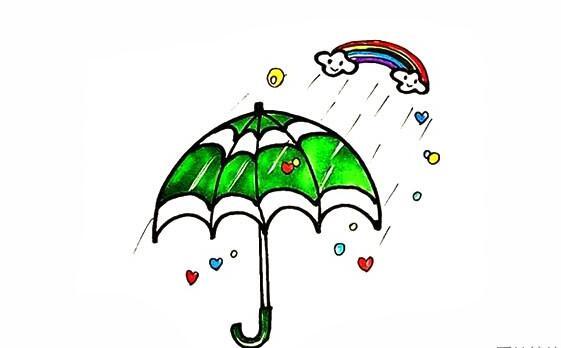 画一把好看的雨伞