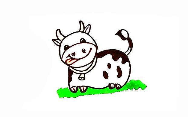 画一头奶牛,天天喝奶啦