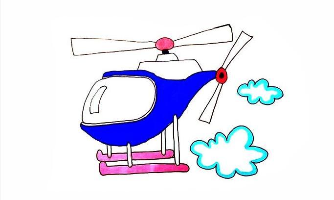 画一架直升飞机,带你去飞翔