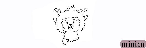 14.再画出懒羊羊的腿部。