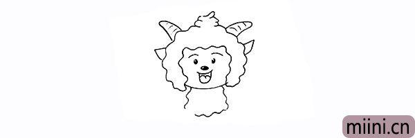 12.向下用波浪线画出懒羊羊的身体。
