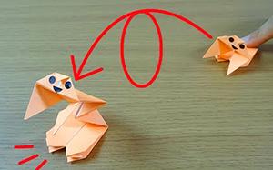 折纸玩具,360度旋转跳跃不停歇