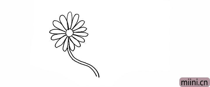 3.接着我们画出它长长的茎。