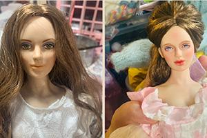 富兰克林娃娃改妆美少妇的过程