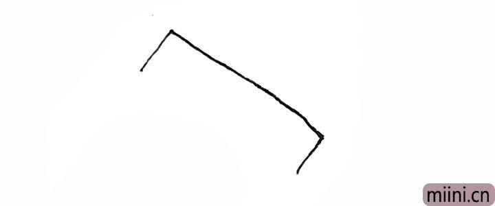 1.先画上半个方形。