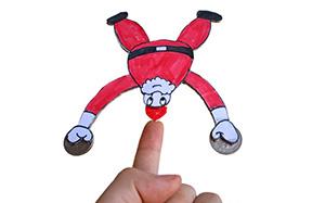 不会倒下的圣诞老人卡纸教程