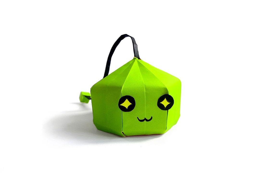折纸{冒险岛}绿水灵,造型可爱小巧