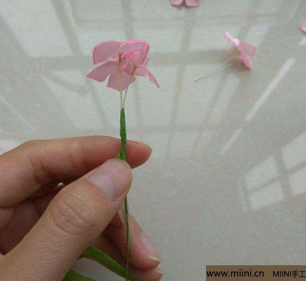 丝带缎带烧花 紫阳花绣球 第8步