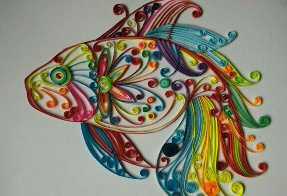 ��纸制作七彩鱼步骤图解
