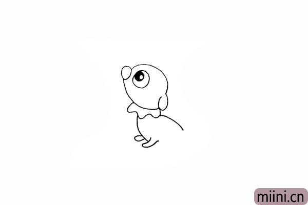 9.我们画出小海狗的两只小脚。