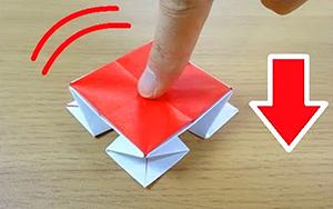 压不坏的按钮玩具折纸教程