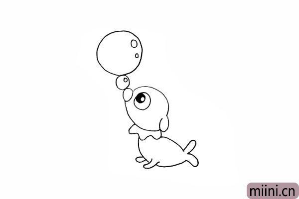 13.在圆球上面画出高光部分。