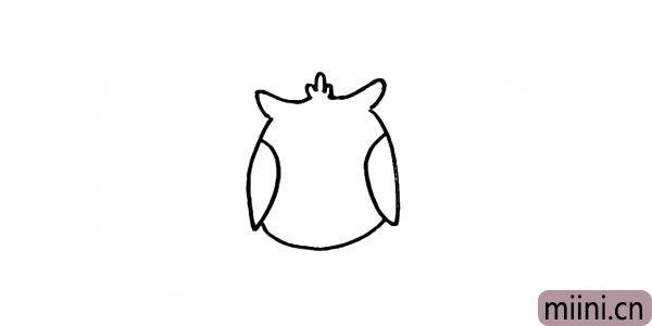 4.在底部画一条曲线完善一下身体部分。