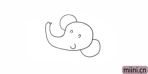 4.以及大象开心笑着的嘴巴。