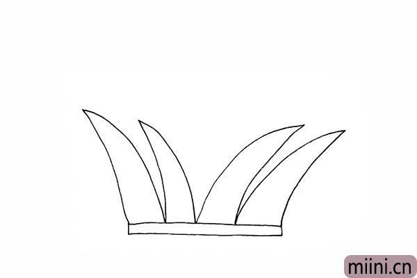 3.用同样的方法画出另外几片叶子。