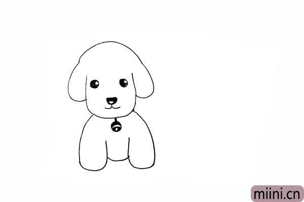 10.给小狗的脖子上画一个铃铛作为装饰。