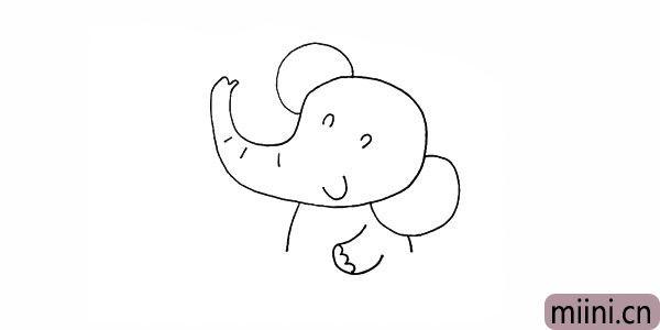 7.我们在画上大象的手臂。