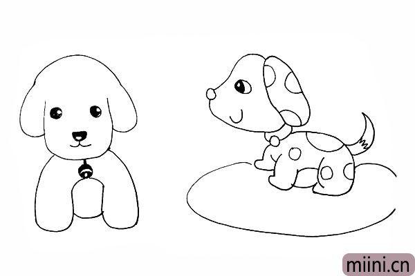 23.用椭圆画上斑点狗身下的地毯。