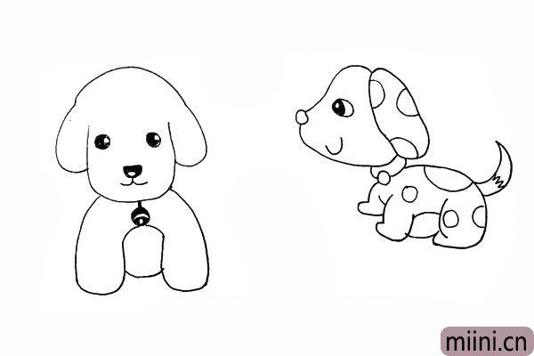 22.再用圆圈装饰一下狗狗身上的花纹。