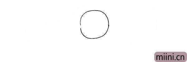 1.首先我们画出一个圆形的头部。