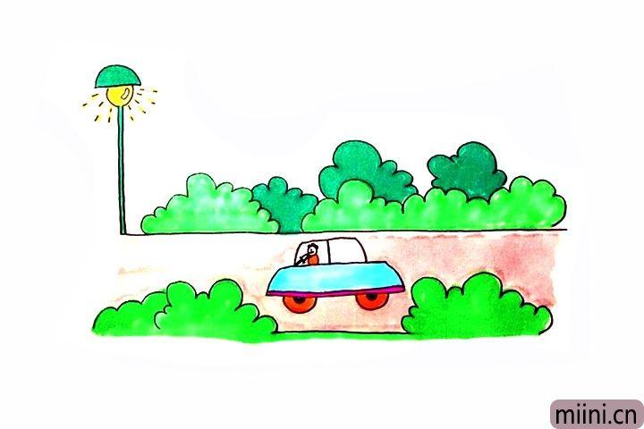 正在行驶的汽车简笔画步骤