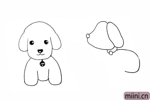 16.用一条曲线画出狗狗的身体。