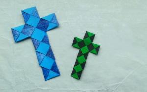 折纸十字架书签,小巧好看有心意