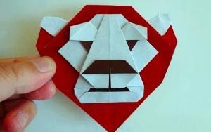 教你折纸简单好玩的狮子头书签