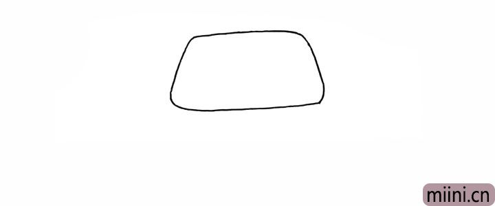 1.首先用一个梯形勾勒出房顶。