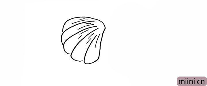 4.在给贝壳加上一些条纹更加层次。