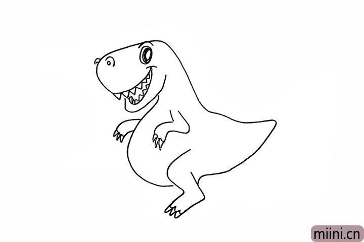 8.在缺口处画出恐龙的腿部。