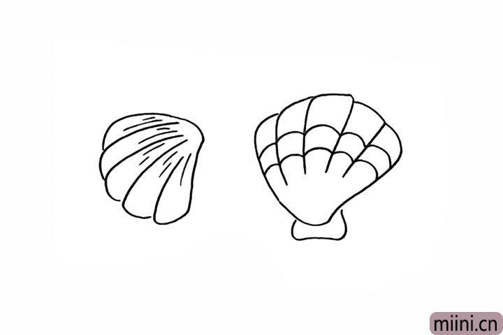 8.在上面勾勒出波浪线的花纹。
