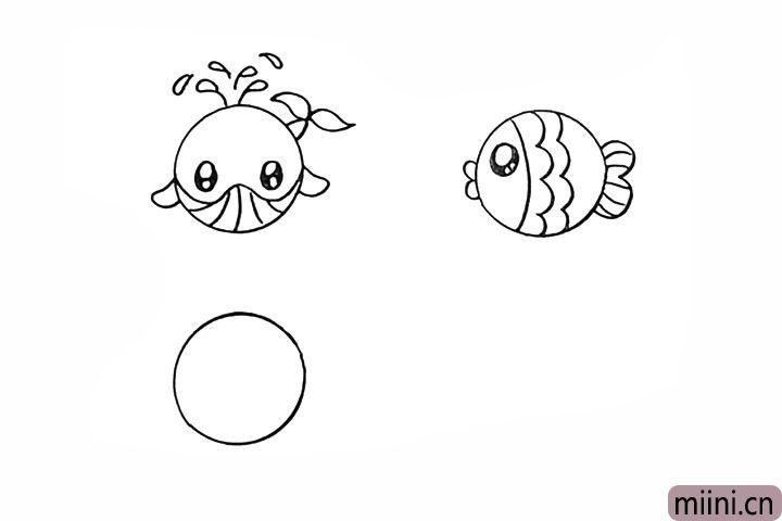 10.然后画出它的尾巴注意细节。