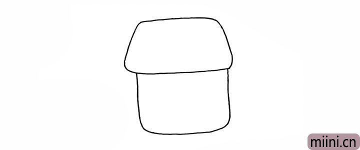 2.在画出房身.线条画的圆润一些。
