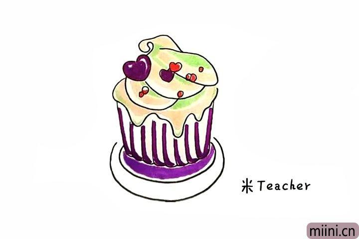 冰激凌蛋糕简笔画步骤