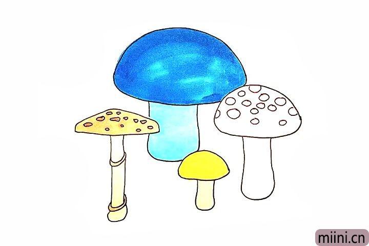 4种蘑菇的画法,你会了吗