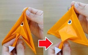 冷门好玩的折纸玩具:多多良小伞