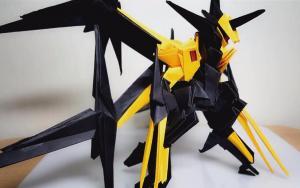 超帅气的折纸机器人视频教程来了