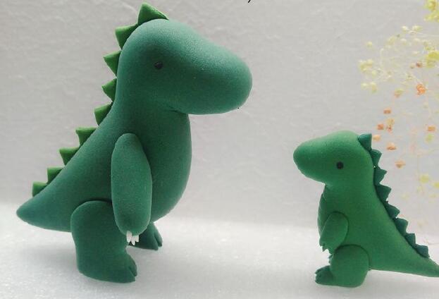 超轻粘土卡通恐龙步骤教程