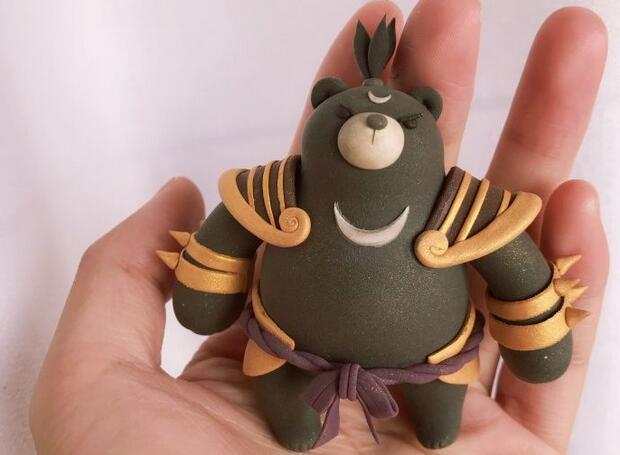 超轻粘土coco熊制作步骤教程