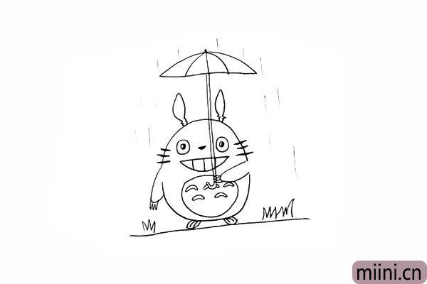 10.今天下着大雨.龙猫是要去哪里呢?