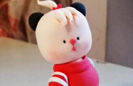 超轻粘土胖胖的熊猫制作教程