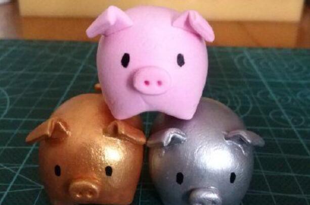 超轻粘土制作可爱的粉色小猪步骤教程