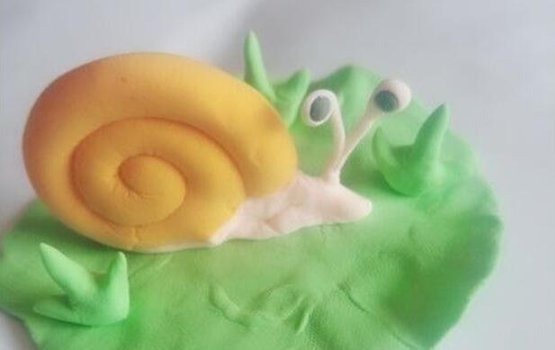 超轻粘土怎么做可爱的蜗牛