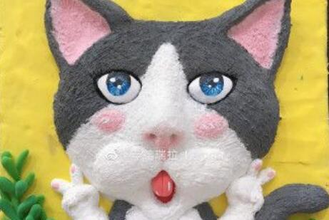 可爱的粘土猫咪画制作教程