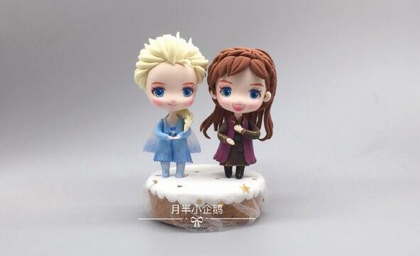 冰雪奇缘2艾莎和安娜粘土人偶制作步骤图解